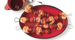grilled-shrimp-and-sausage-skewers-with-smoky-paprika-glaze