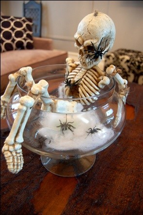 halloween boney centerpiece