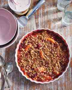 strawberry and apricot crisp