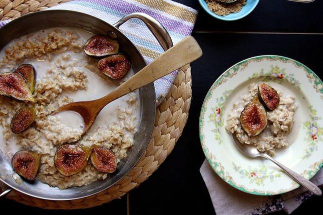 fid and ricotta oatmeal